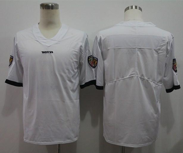 Nike Ravens Blank White Vapor Untouchable Limited Jersey