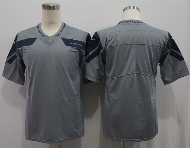 Nike Seahawks Blank Gray Vapor Untouchable Limited Jersey