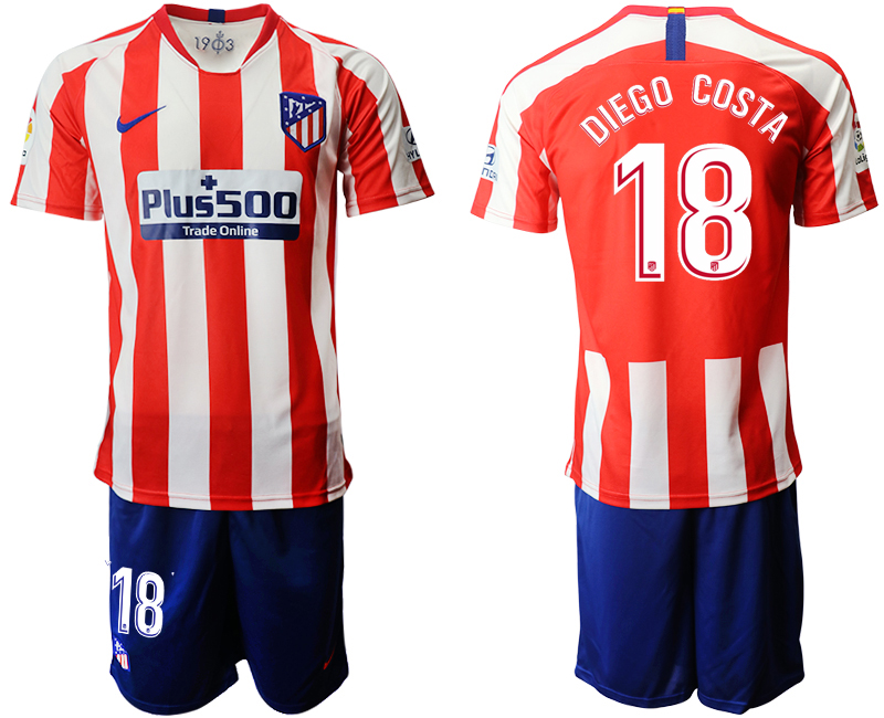 2019-20 Atletico Madrid 18 DIEGO COSTA Home Soccer Jersey