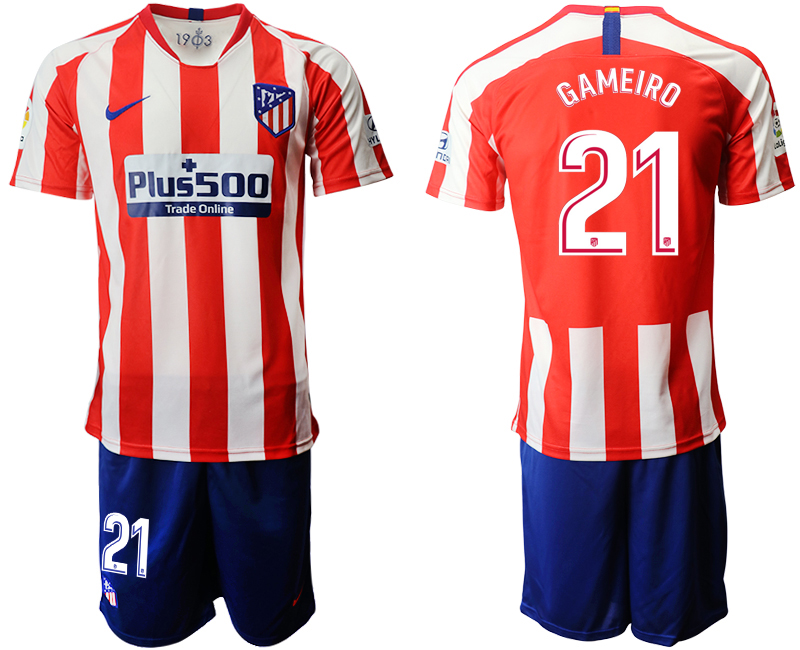 2019-20 Atletico Madrid 21 GAMEIRO Home Soccer Jersey