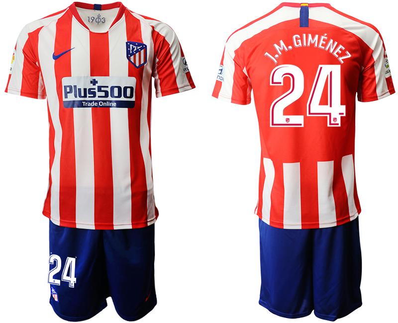 2019-20 Atletico Madrid 24 J.M.GIMENEZ Home Soccer Jersey