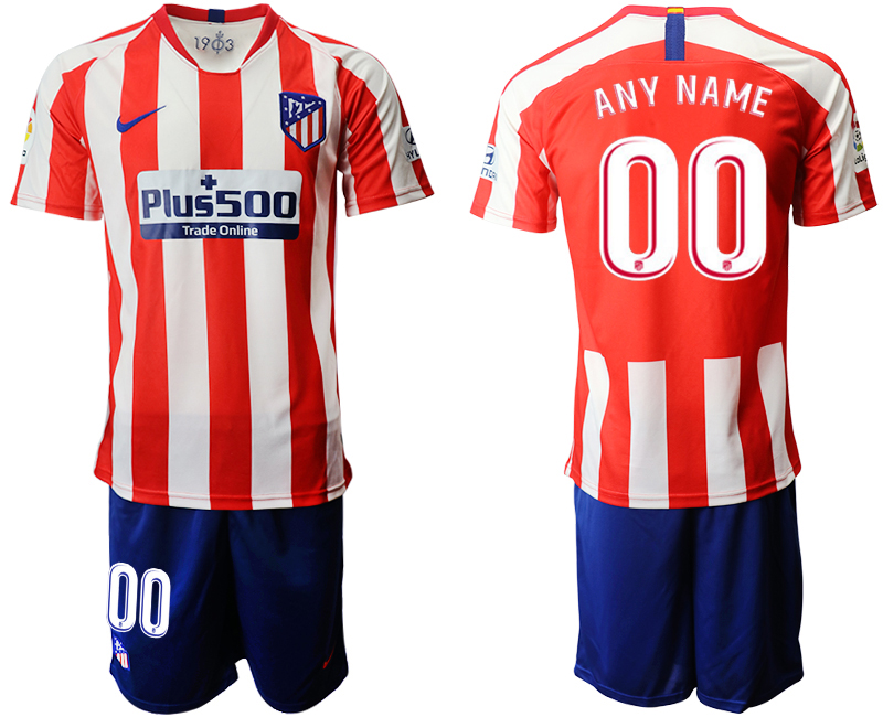 2019-20 Atletico Madrid Customized Home Soccer Jersey
