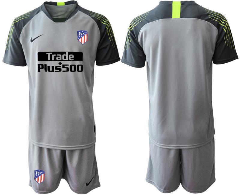 2019-20 Atletico Madrid Gray Goalkeepe Soccer Jersey