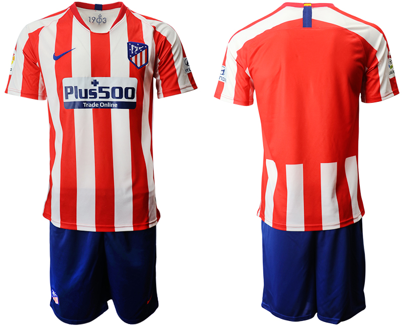 2019-20 Atletico Madrid Home Soccer Jersey