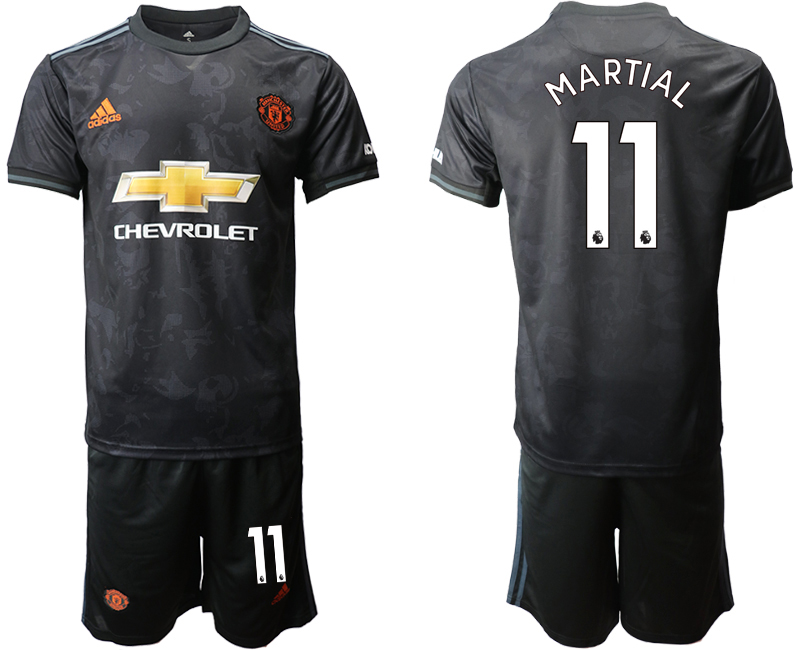 2019-20 Manchester United 11 MARTIAL Third Away Soccer Jersey