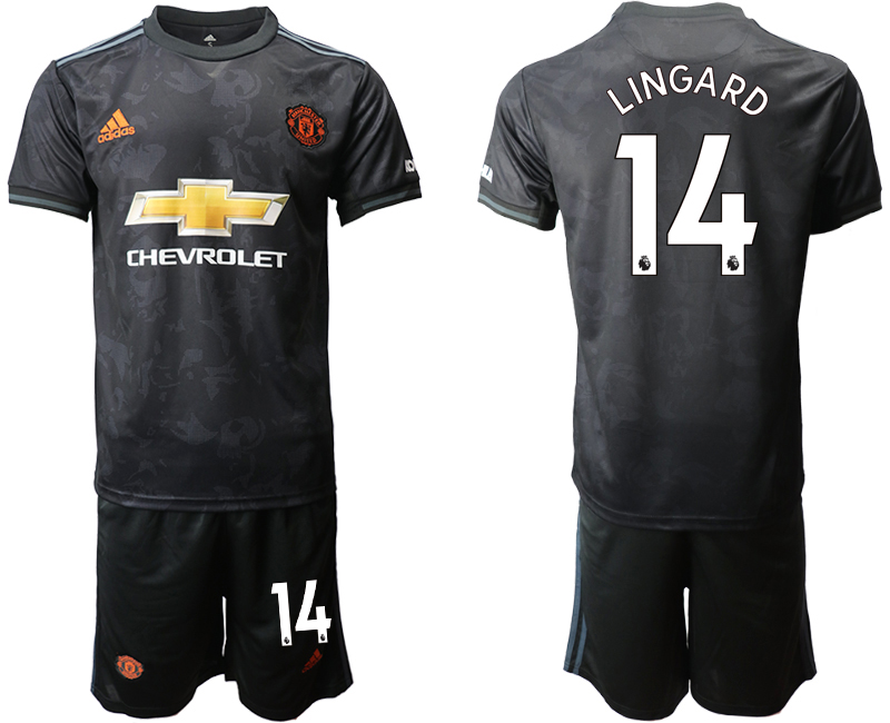 2019-20 Manchester United 14 LINGARD Third Away Soccer Jersey