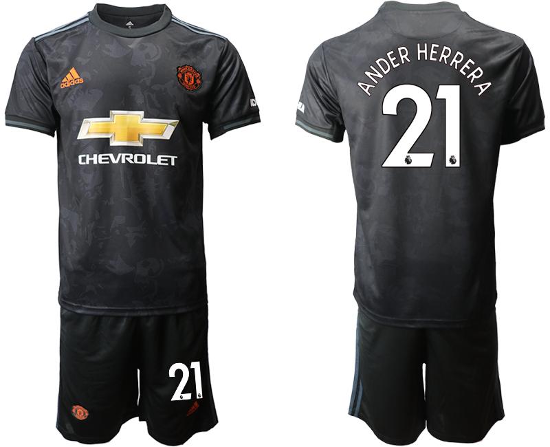 2019-20 Manchester United 21 ANDER HERRERA Third Away Soccer Jersey