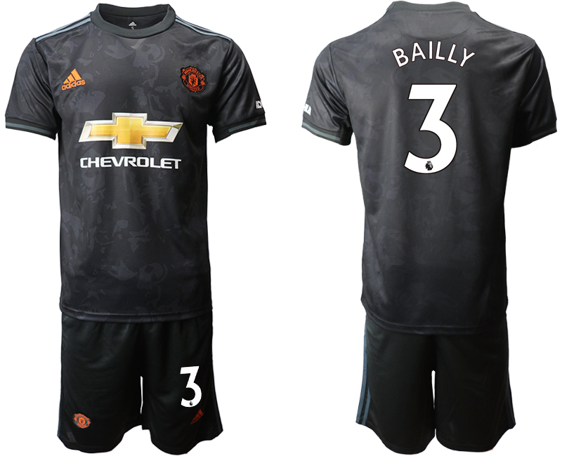 2019-20 Manchester United 3 BAILLY Third Away Soccer Jersey