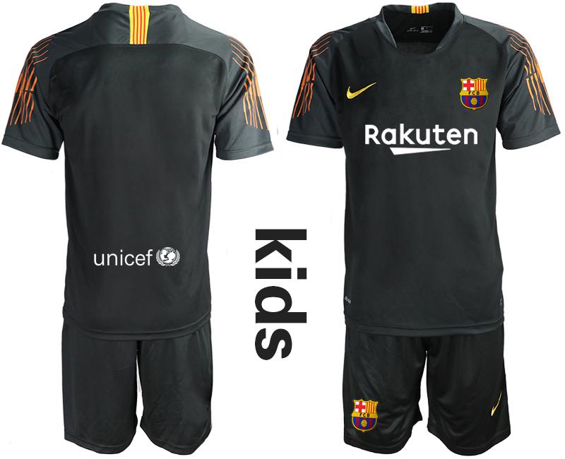 2019-20 Barcelona Black Youth Goalkeepe Soccer Jersey