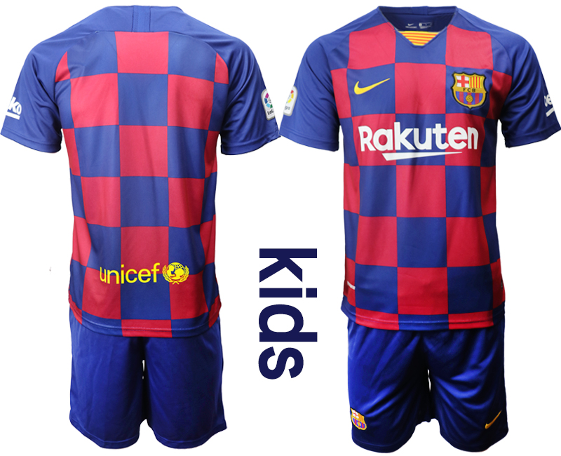 2019-20 Barcelona Youth Home Soccer Jersey