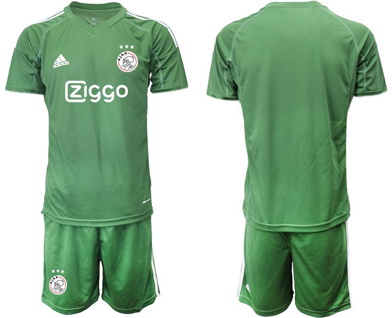 2019-20 Ajax Army Green Goalkeepe Soccer Jersey