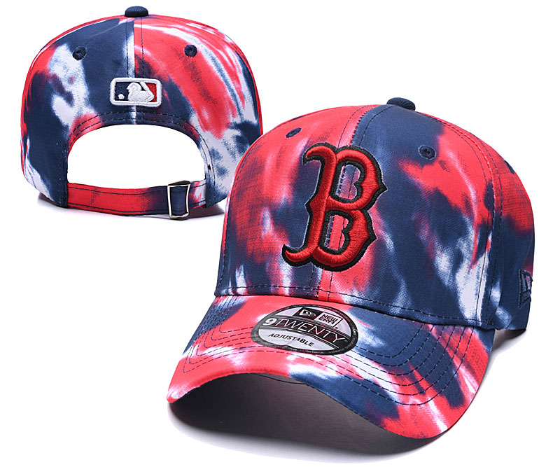 Red Sox Team Logo Red Navy Peaked Adjustable Fashion Hat YD