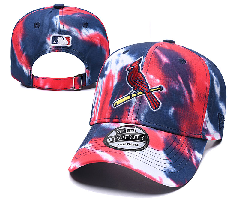 St. Louis Cardinals Team Logo Red Navy Peaked Adjustable Fashion Hat YD