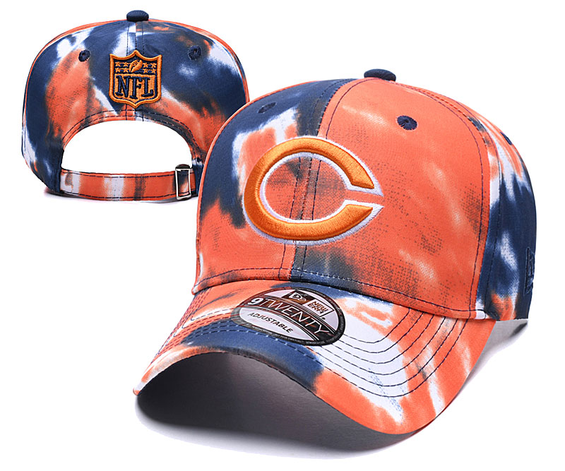 Bears Team Logo Orange Peaked Adjustable Fashion Hat YD