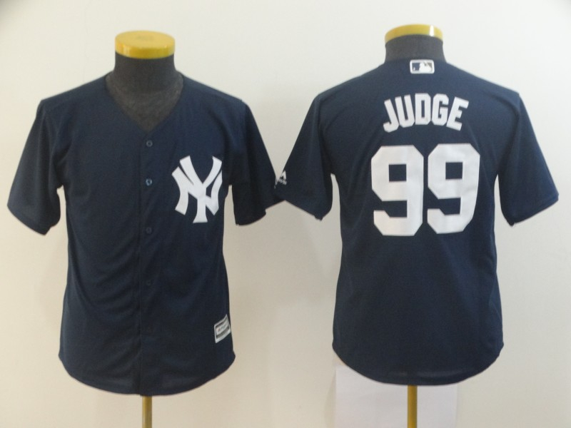 Yankees 99 Aaron Judge Navy Youth Cool Base Jersey