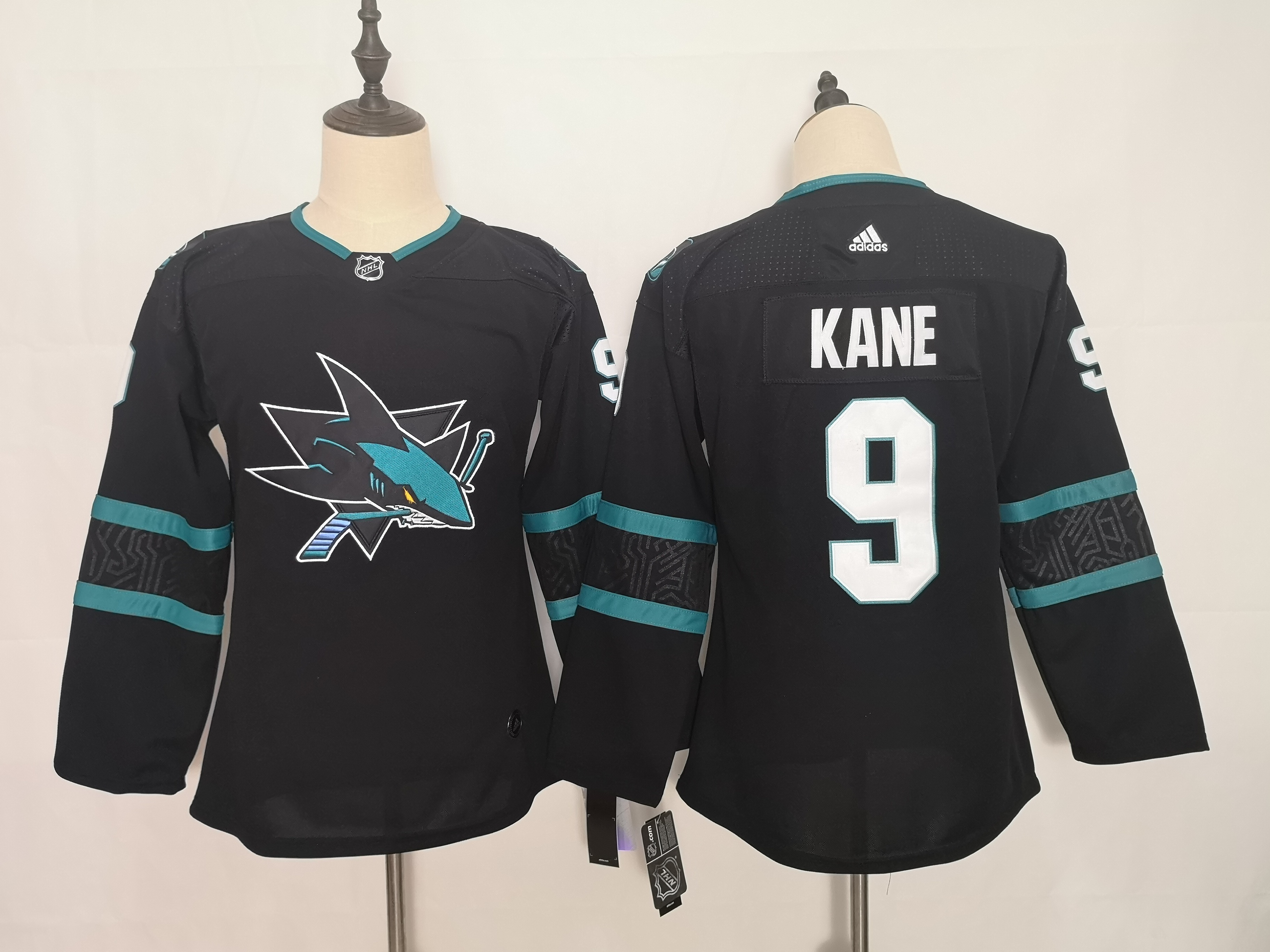 Sharks 9 Evander Kane Black Youth Adidas Jersey