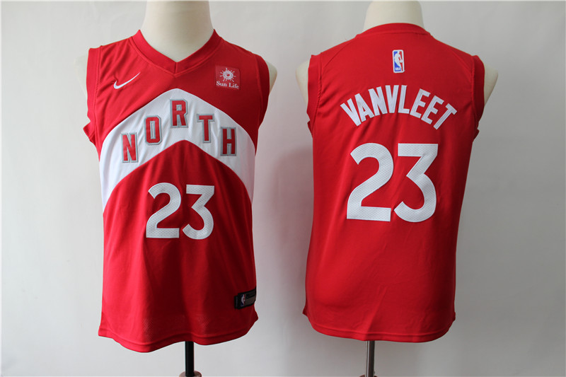 Raptors 23 Fred Vanvleet Red Youth Earned Edition Nike Swingman Jersey