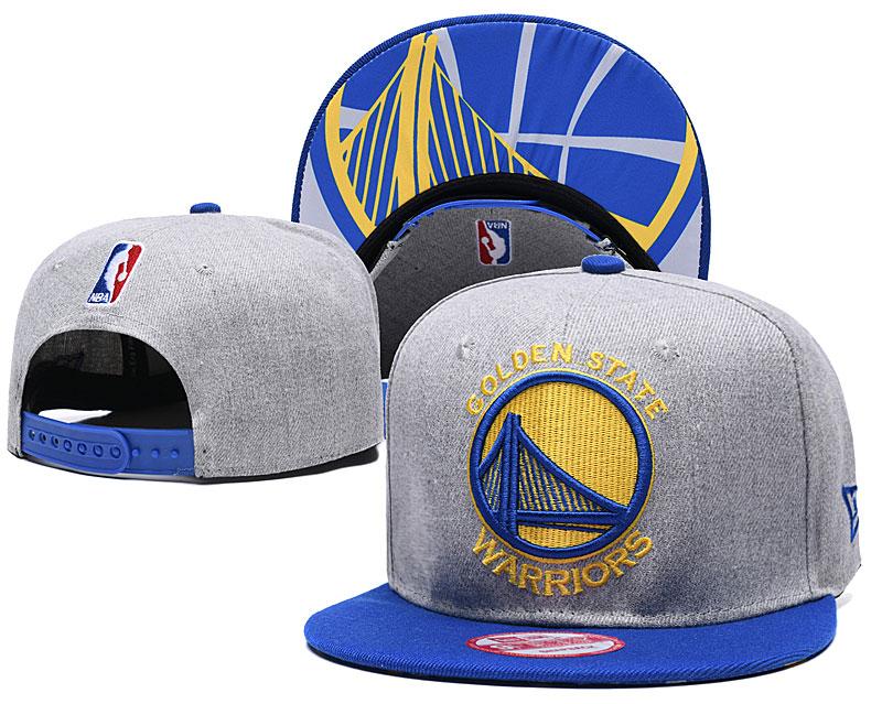 Warriors Team Logo Gray Blue Adjustable Hat TX