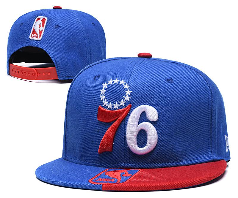 76ers Team Logo Blue Red Adjustable Hat GS