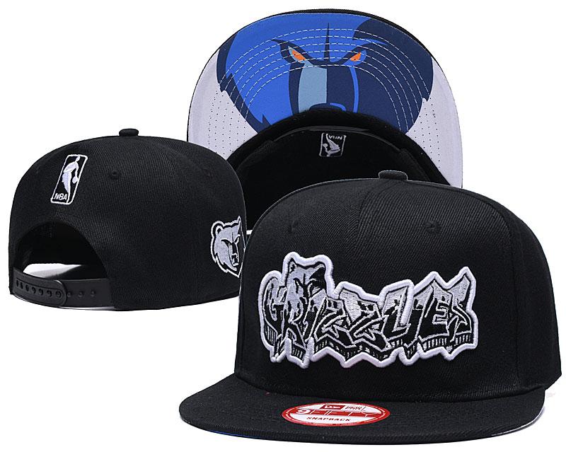 Grizzlies Team Logo Black Adjustable Hat GS