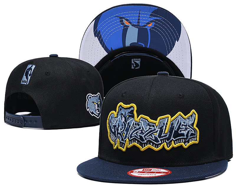 Grizzlies Team Logo Black Navy Adjustable Hat GS
