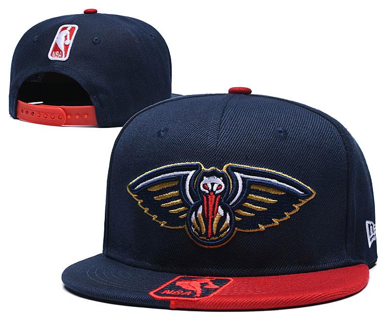 Pelicans Team Logo Navy Red Adjustable Hat GS