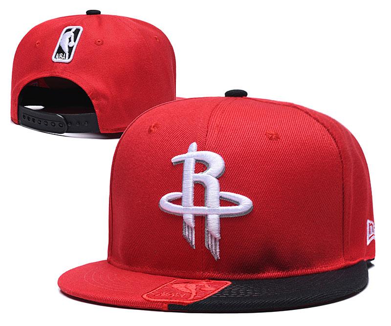 Rockets Team Logo Red Black Adjustable Hat GS