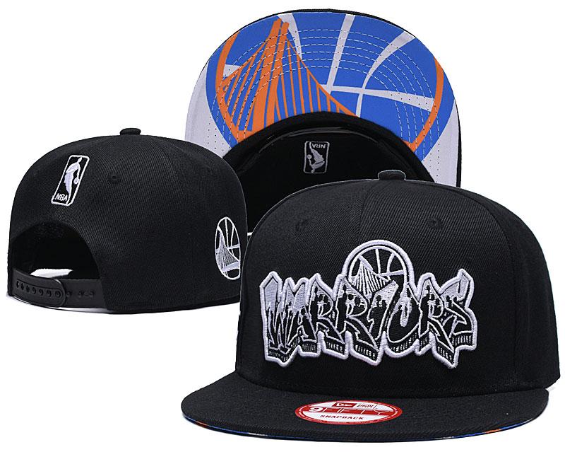 Warriors Team Logo Black Adjustable Hat GS