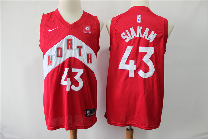 Raptors 43 Pascal Siakam Red Earned Edition Nike Swingman Jersey