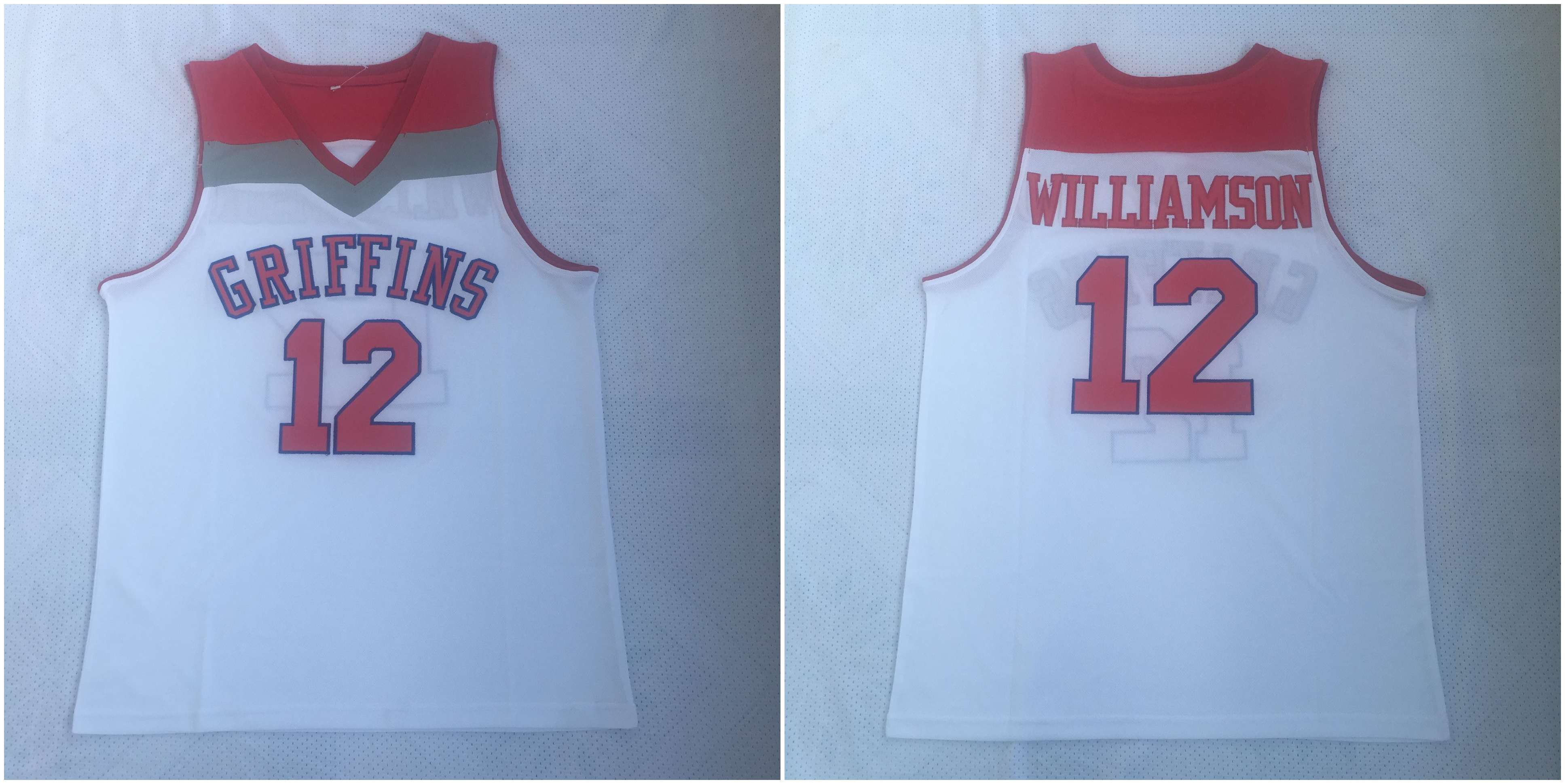 Spartanburg Griffins 12 Zion Williamson White High School Basketball Jersey