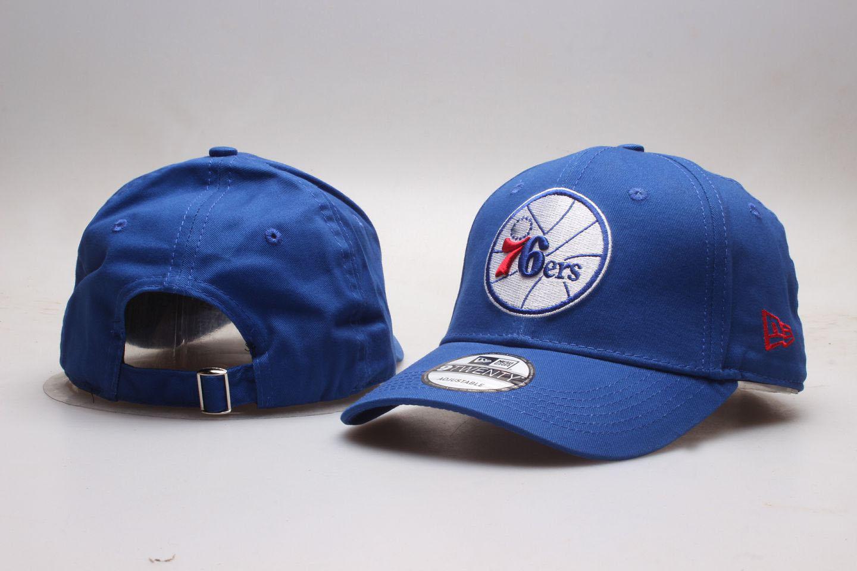 76ers Team Logo Blue Peaked Adjustable Hat YP