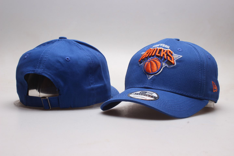 Knicks Team Logo Blue Adjustable Hat YP