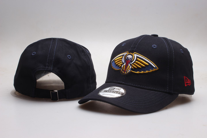 Pelicans Team Logo Black Peaked Adjustable Hat YP