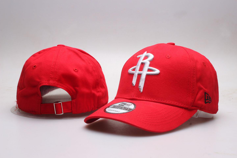 Rockets Team Logo Red Peaked Adjustable Hat YP