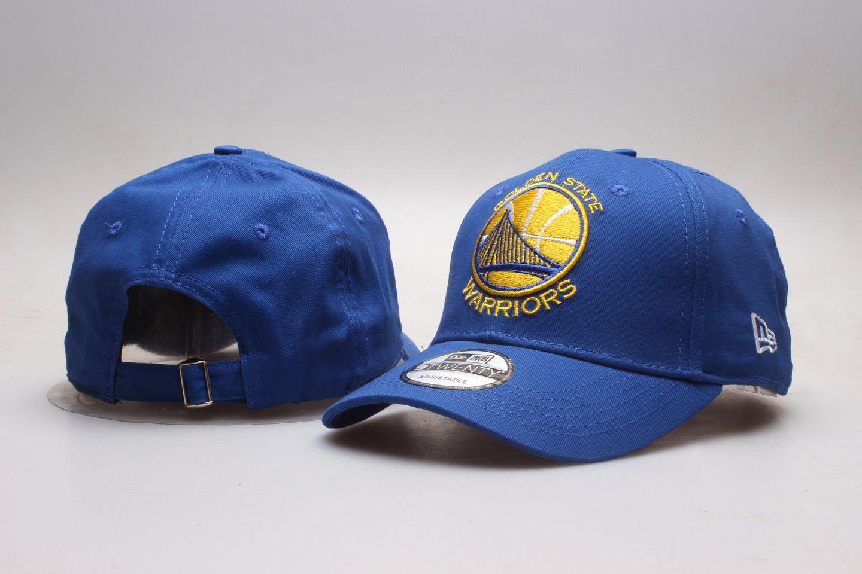 Warriors Team Logo Blue Peaked Adjustable Hat YP