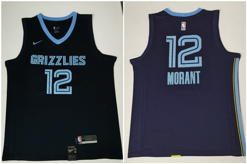 Grizzlies 12 Ja Morant Navy Nike Swingman Jersey