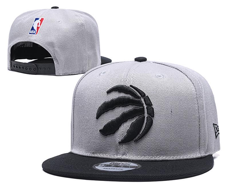 Raptors Fresh Logo Gray Black Adjustable Hat TX