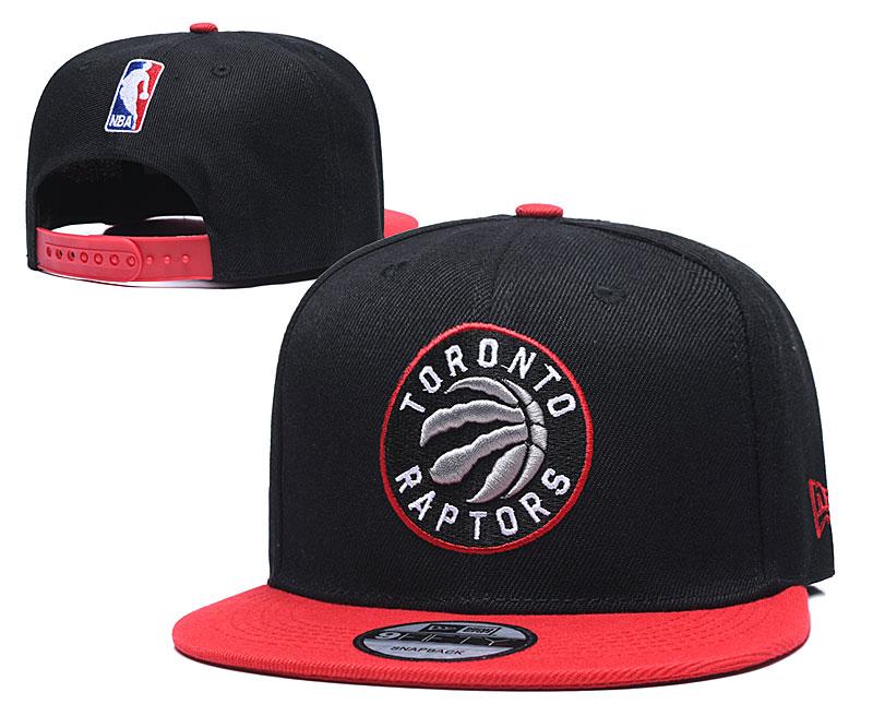 Raptors Team Logo Black Red Adjustable Hat TX