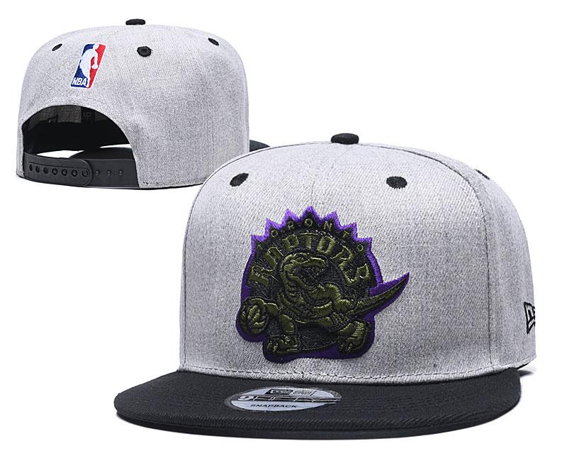 Raptors Team Logo Gray Black Adjustable Hat TX