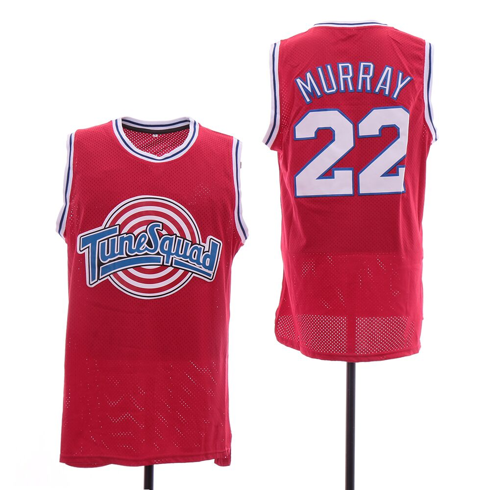 Tune Squad 22 Murray Red Stitched Movie Jersey