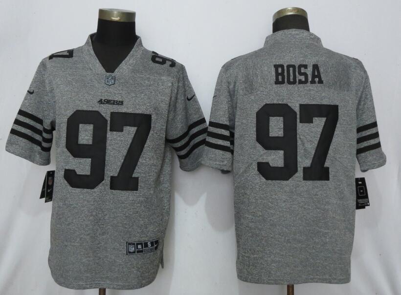 Nike 49ers 97 Nick Bosa Gray Gridiron Gray Vapor Untouchable Limited Jersey