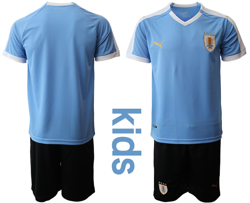 2019-20 Uruguay Youth Home Soccer Jersey