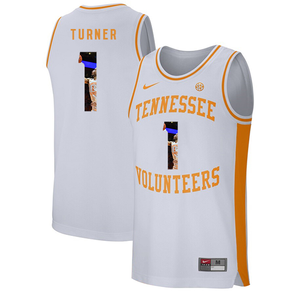 Tennessee Volunteers 1 Lamonte Turner White Fashion College Basketball Jersey
