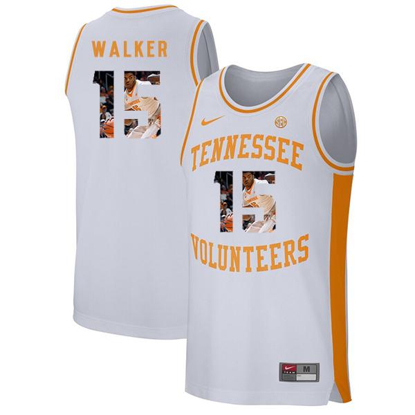 Tennessee Volunteers 15 Derrick Walker White Fashion College Basketball Jersey
