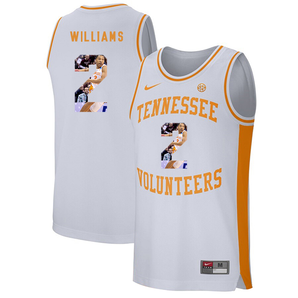 Tennessee Volunteers 2 Grant Williams White Fashion College Basketball Jersey