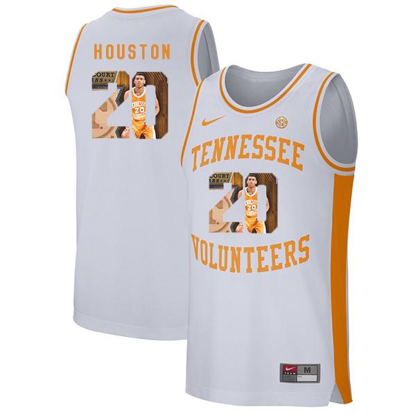 Tennessee Volunteers 20 Allan Houston White Fashion College Basketball Jersey