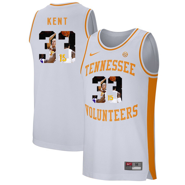 Tennessee Volunteers 33 Zach Kent White Fashion College Basketball Jersey