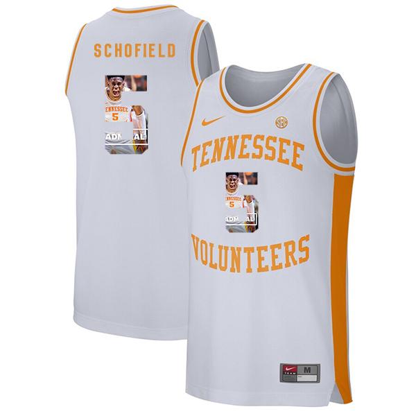 Tennessee Volunteers 5 Admiral Schofield White Fashion College Basketball Jersey