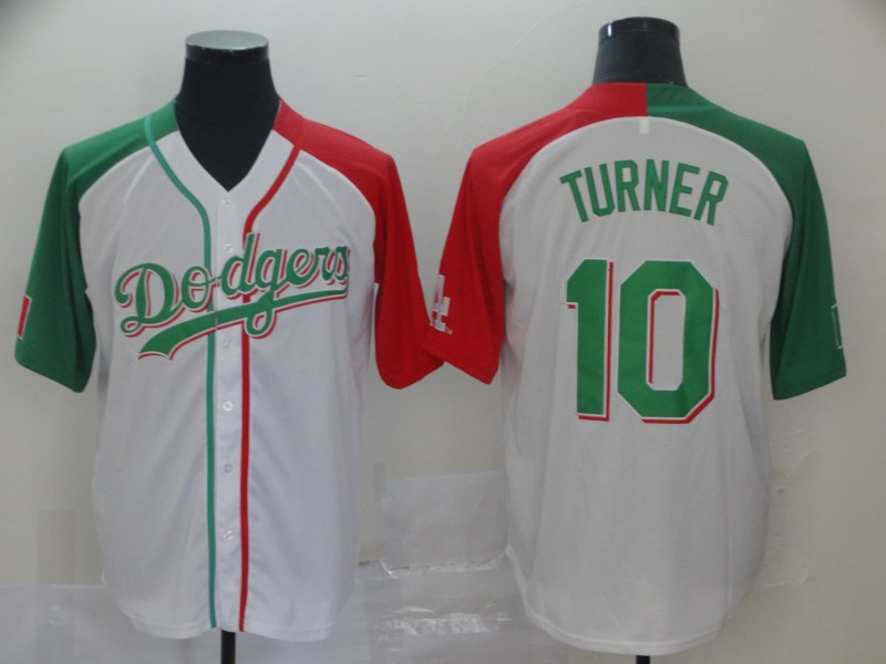 Dodgers 10 Justin Turner White Mexican Heritage Culture Night Jersey Mexico