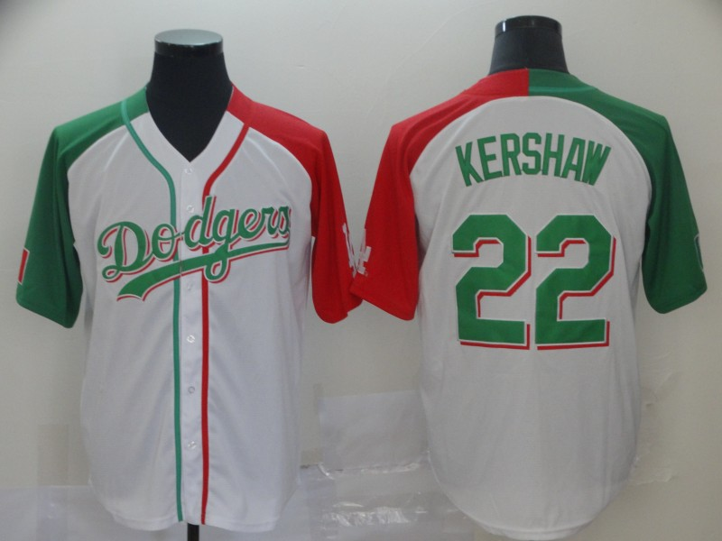 Dodgers 22 Clayton Kershaw White Mexican Heritage Culture Night Jersey Mexico
